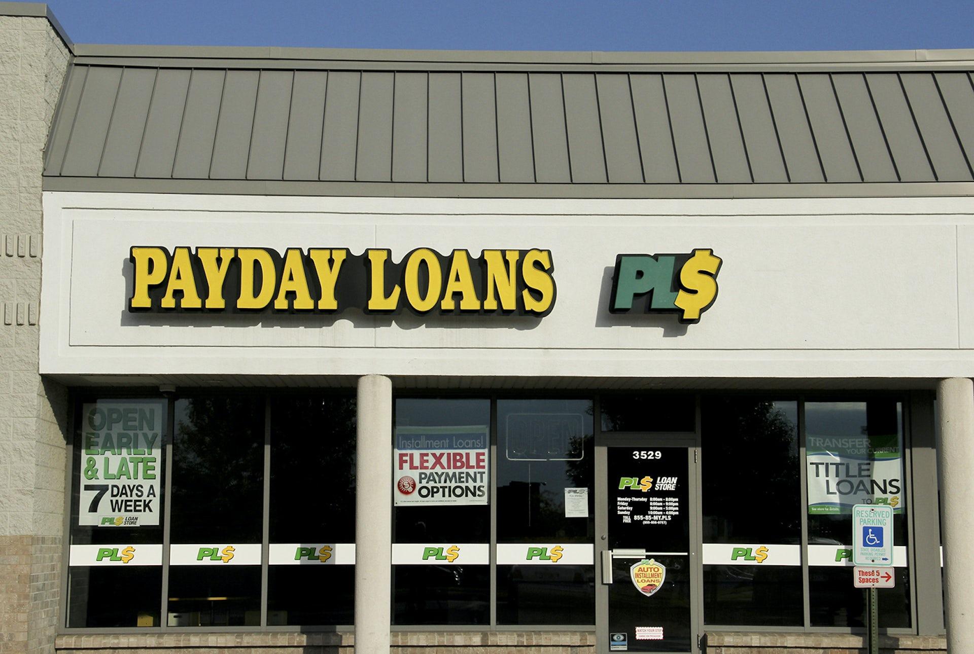 Payday loans lender