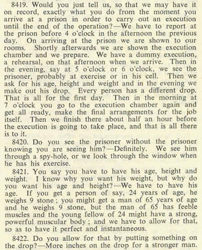 albert pierrepoint a haunted hangman and the death penalty today a section from pierrepoint s testimony to the royal commission on capital punishment in 1950 national archives