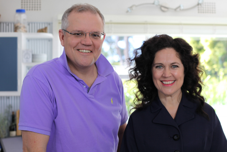 annabel crabb with scott morrison  abc recipes for racism  kitchen cabinet and the politics of food  rh   theconversation com