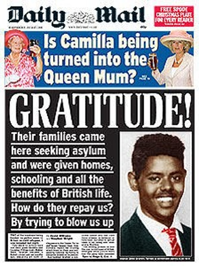 Daily Mail reverts to type as media makes sense of Paris ... Daily Mail