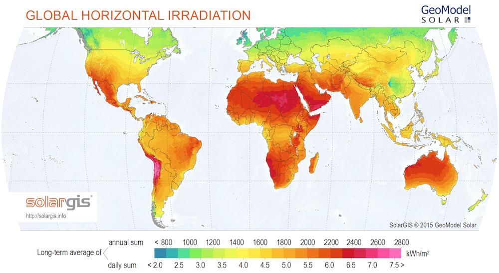 How a global solar alliance can help developing countries most developing countries benefit from high solar radiation source solargis 2015 geomodel solar sciox Images