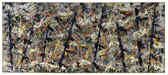 here s looking at blue poles by jackson pollock jackson pollock blue poles 1952 oil e l aluminium paint glass on canvas 212 1x488 9cm national gallery of canberra purchased 1973