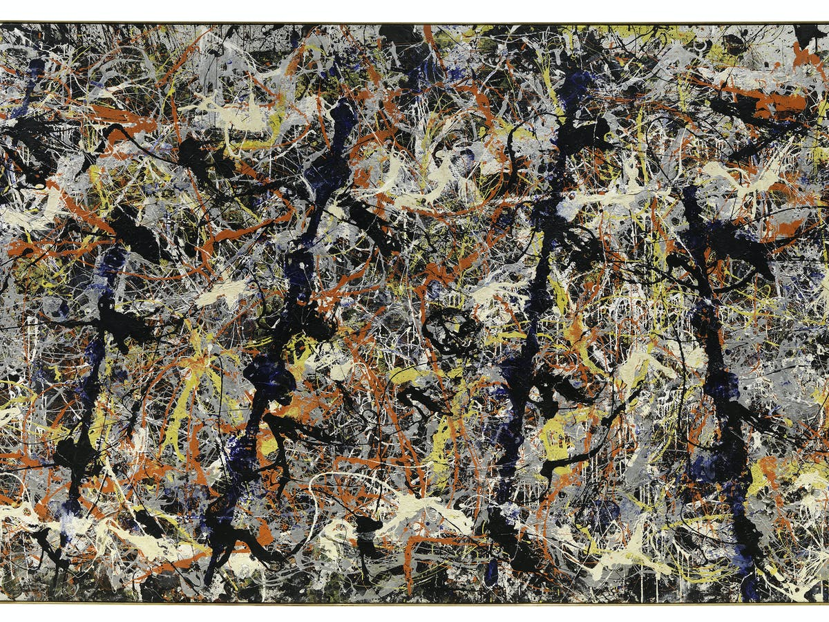 Here's looking at: Blue poles by Jackson Pollock