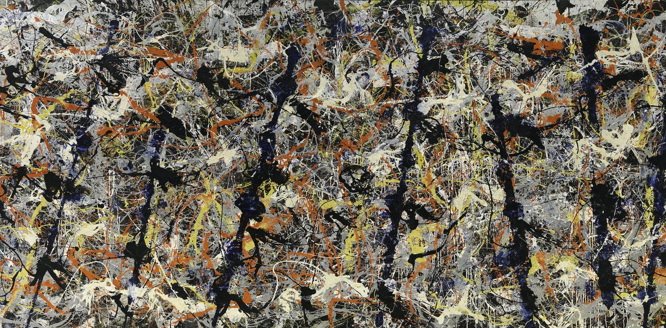 here s looking at blue poles by jackson pollock