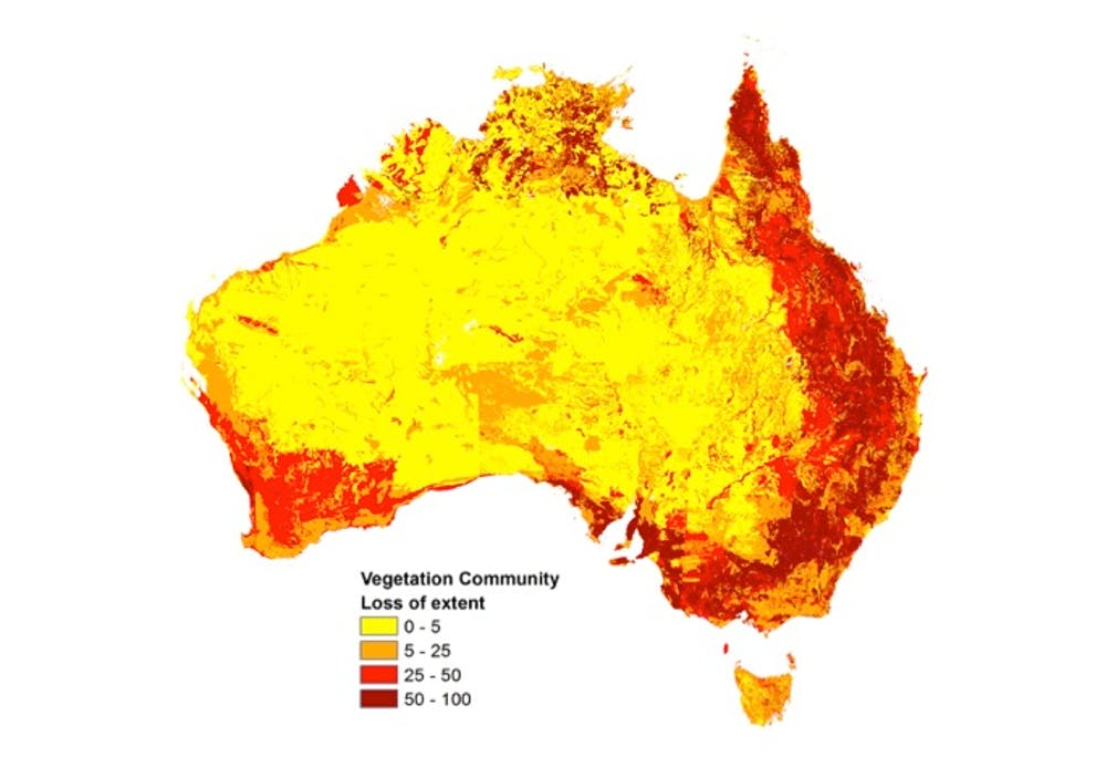 Australia Map Vegetation.Unique Australian Wildlife Risks Vanishing As Ecosystems Suffer