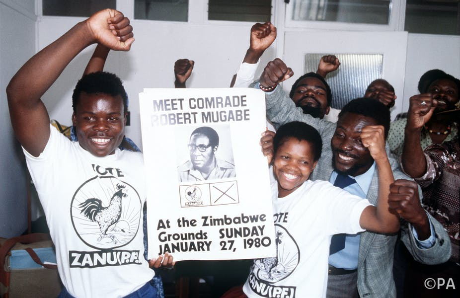 Four decades of underestimating mugabe how the british never supporters of robert mugabe campaign ahead of the february 1980 election pa archive platinumwayz