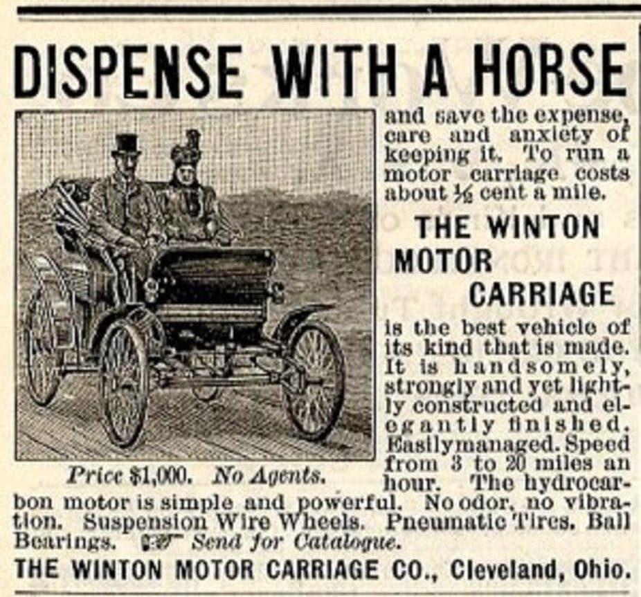 In A Driverless Future What Happens To Todays Drivers 1950 American Motors Wiring Diagram Are Yesterdays Horses Winton Motor Carriage Company