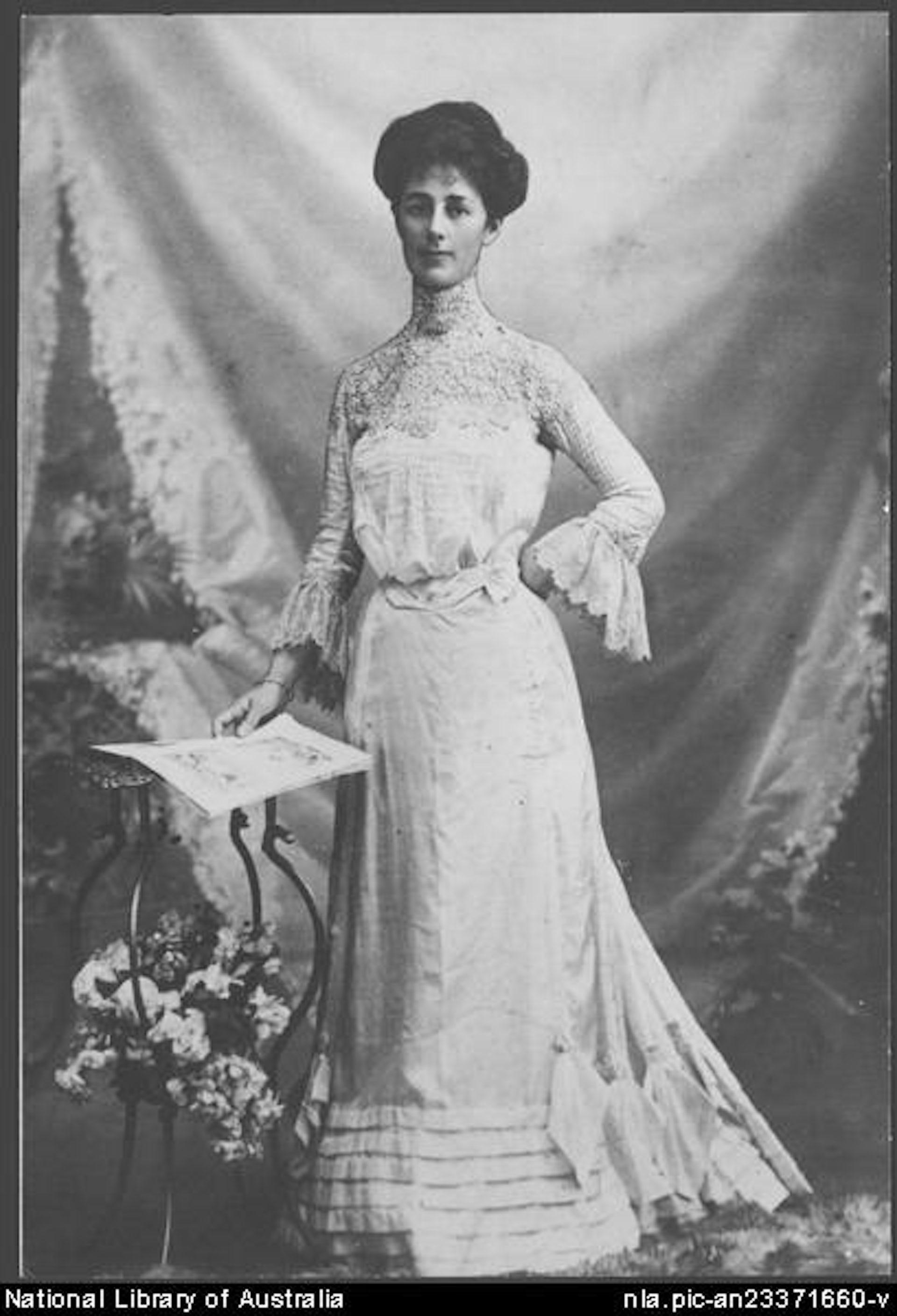 la Suffragette reunirse con convirtió Vida Goldstein en Blanca en en Casa australiano se estadounidense presidente un el primer x4xrwzUZq