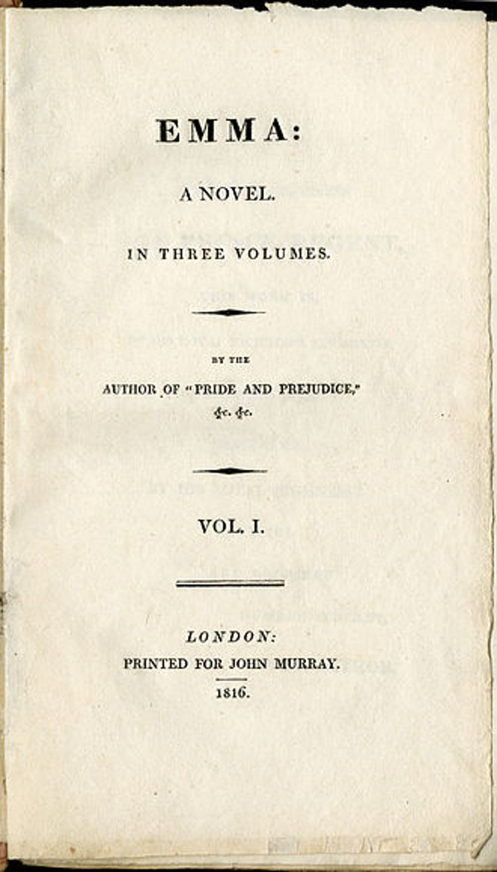 friday essay jane austen s emma at  title page from jane austen s first edition of emma jane austen lilly library na university