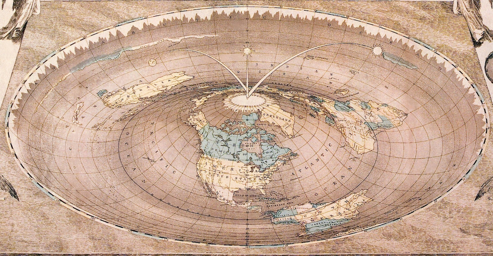 New Flat Earth Map.Flat Wrong The Misunderstood History Of Flat Earth Theories