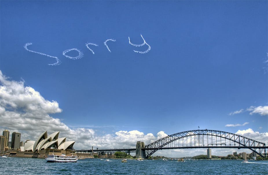 sorry isn t the hardest word so say it for the stolen generations non indigenous ns should say sorry because they feel sympathy for the plight of the stolen generations not because it was their fault butupa