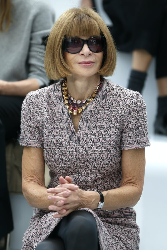 friday essay how new york fashion week came to be anna wintour at the 2013 paris fashion week charles platiau reuters
