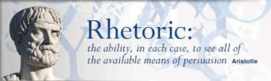 how does aristotle define rhetoric