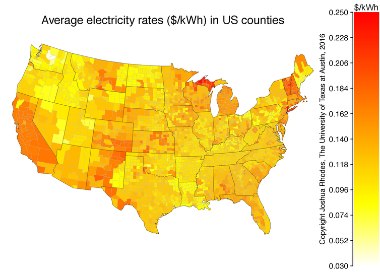 When will rooftop solar be cheaper than the grid? Here\'s a map