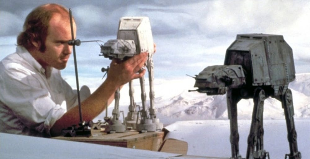 friday essay star wars mad max and the real vs digital effects  the creation of an imperial walker model from the empire strikes back 1980