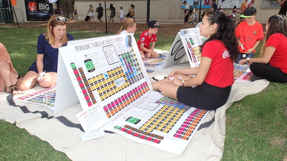 playing battleships with the periodic table at the first world science festival brisbane in 2016 the conversation cc by nc nd