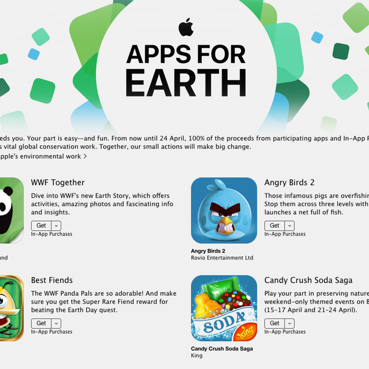 Apple's 'Apps for Earth' raise awareness – but that's not enough