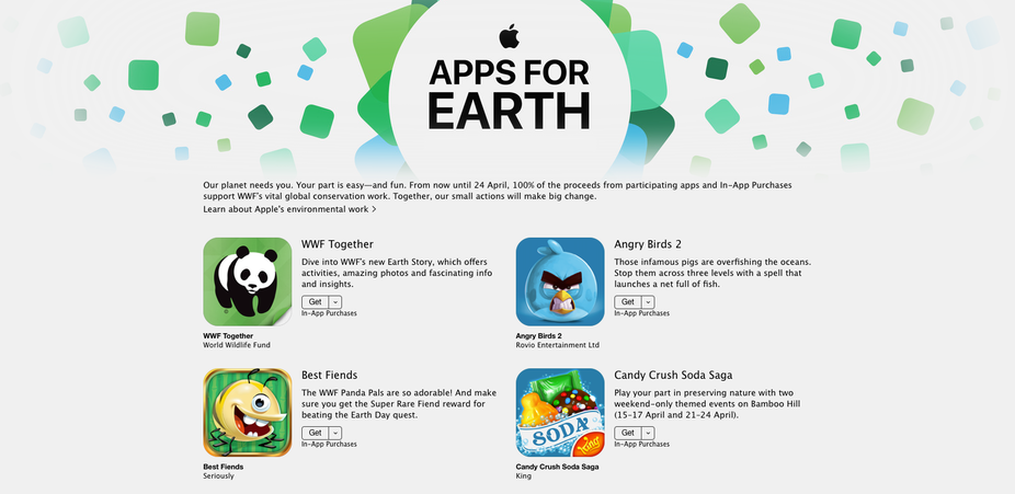 Apples App Store Goes Green For One Week Only Apple