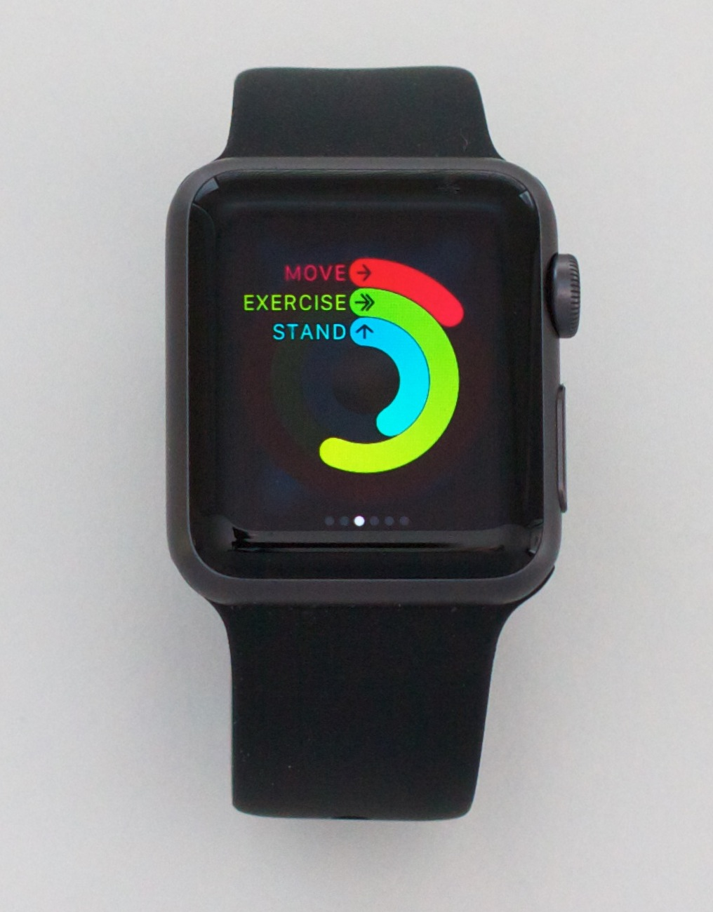 apple fitness watch. the rings in question: they close when goal for day has been met. peter parkes, cc by apple fitness watch