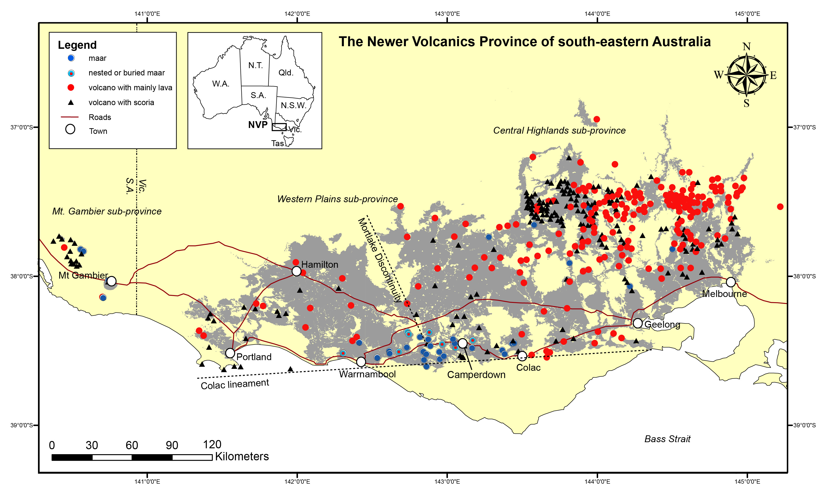 Australia's Volcanic History Is A Lot More Recent Than You Think: Australia Province Map At Infoasik.co