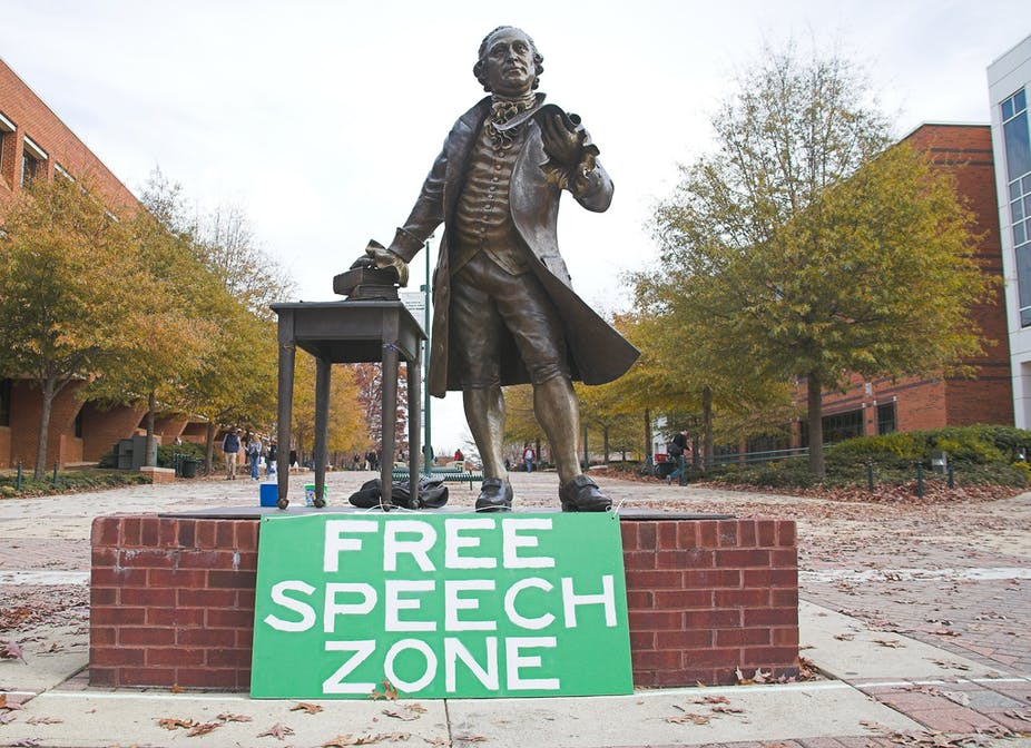 Explainer: how campus policies limit free speech