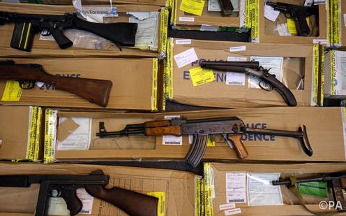 How illegal firearms find their way onto British streets