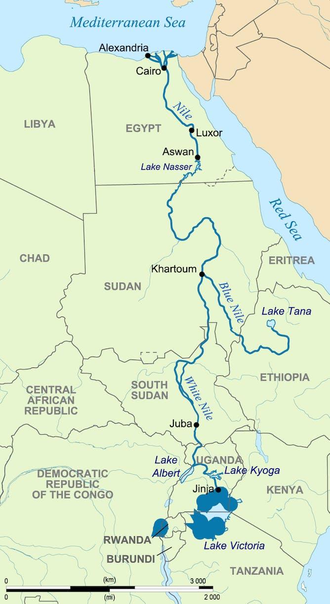 Нил река фото на карте