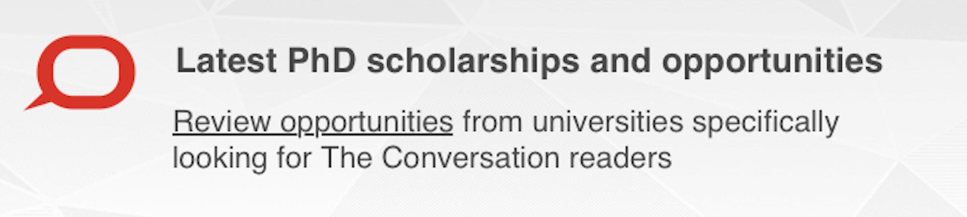 PhD scholarships
