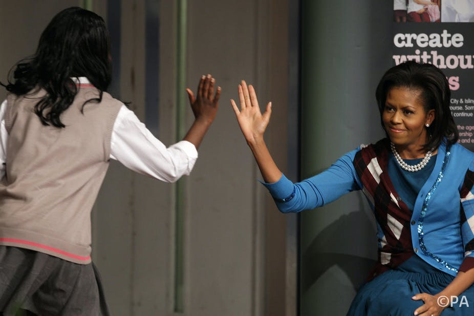 f19e4d8423 How Michelle Obama's visit to a London school helped boost students' grades
