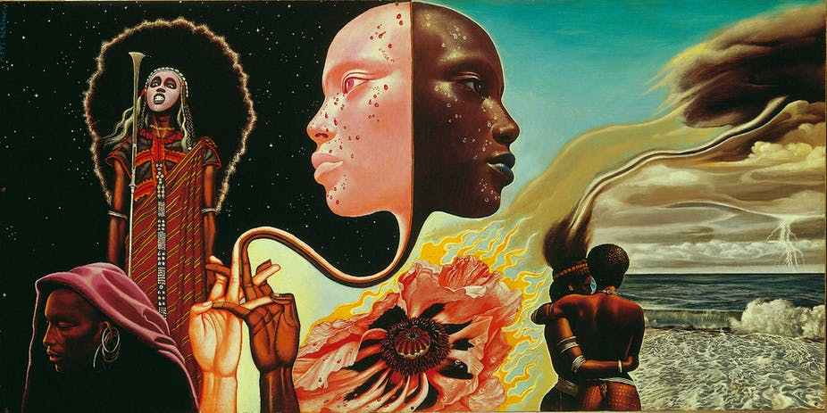 520afc4d0 The cover art of  Bitches Brew  by Mati Klarwein. Artist s website