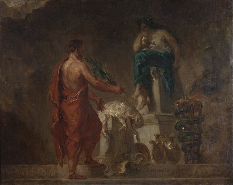 delphic oracle essay Delphi delphi the delphic oracle was the most important oracle of ancient greece archaeological excavations at delphi have shown that the temple of apollo, which.