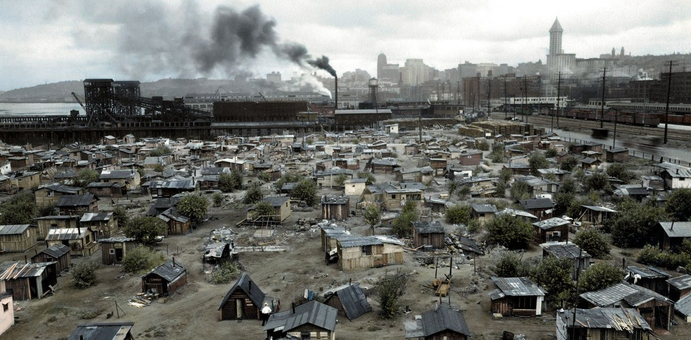 why do shanty towns develop