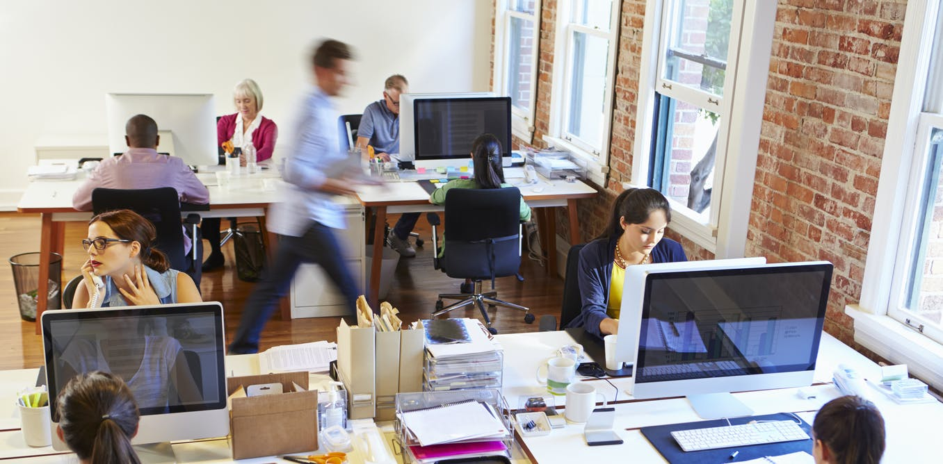 the backlash against open plan offices segmented space