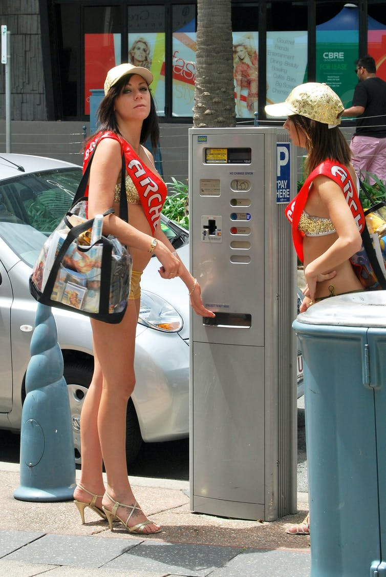 meter maids promotional models and our disturbingly hypersexual cities. Black Bedroom Furniture Sets. Home Design Ideas