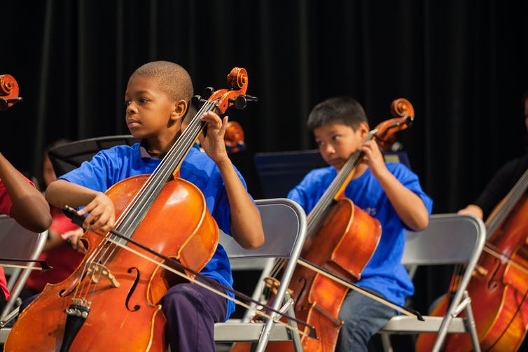 How does music help children learn