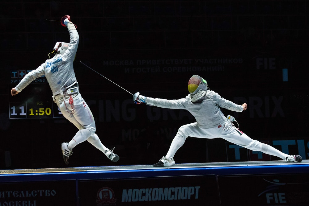 the science behind the olympic sport of fencing rh theconversation com Chain Link Fence Clip Art Preschool Art Clip Art