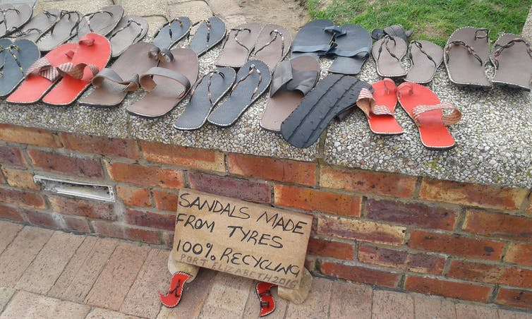 Sandals Made Of Waste Tyres Supplied