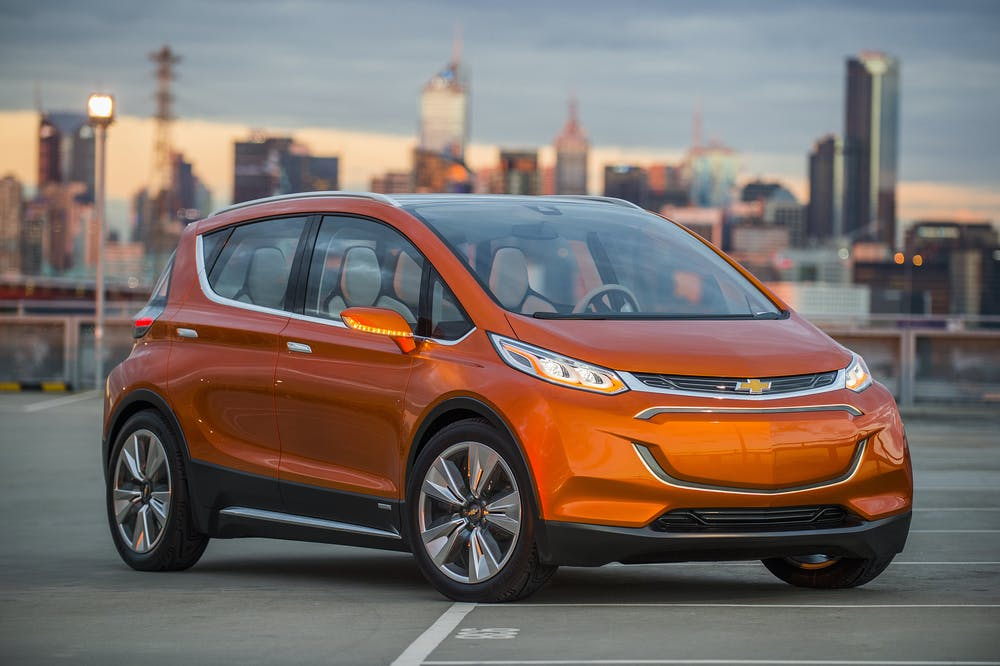 General Motors Is Developing The All Electric 2017 Chevrolet Bolt Which Designed To Have A Driving Range Of About 200 Miles