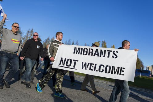 Image result for migrants not welcome""