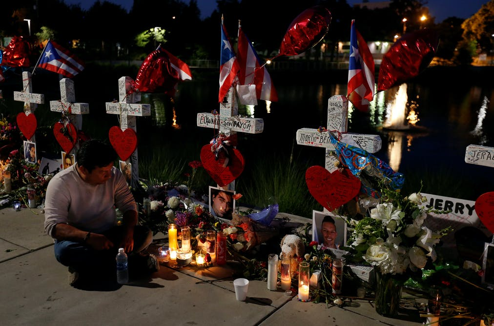 What Is Terrorism What Do Terrorists Want Jose Louis Morales Sits And Prays Under His Brother Edward Sotomayor Jrs  Cross For Victims Of The Pulse Nightclub Shooting In Orlando