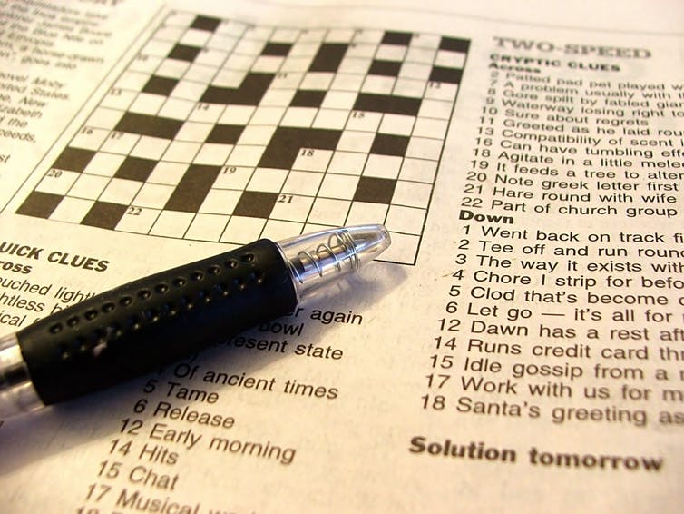Study reveals what it takes to become a cryptic crossword