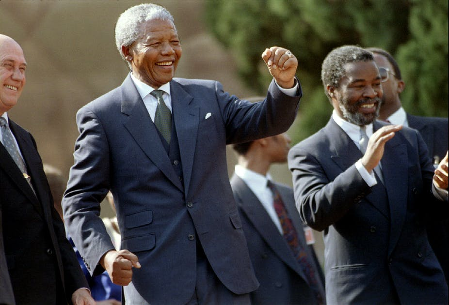 2121ec36d South African President Nelson Mandela forged a powerful cabinet of  national unity. Reuters