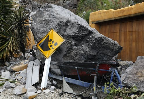 humans can make rockfalls from earthquakes more dangerous