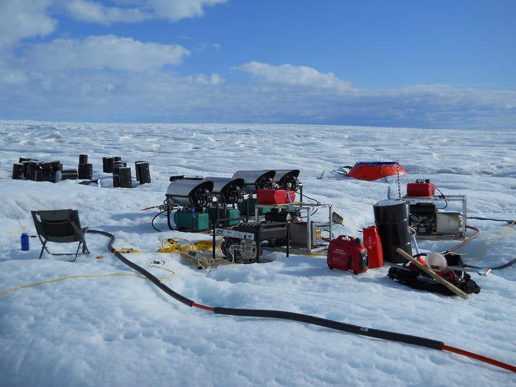 Scientist at work: Tracking melt water under the Greenland ice sheet
