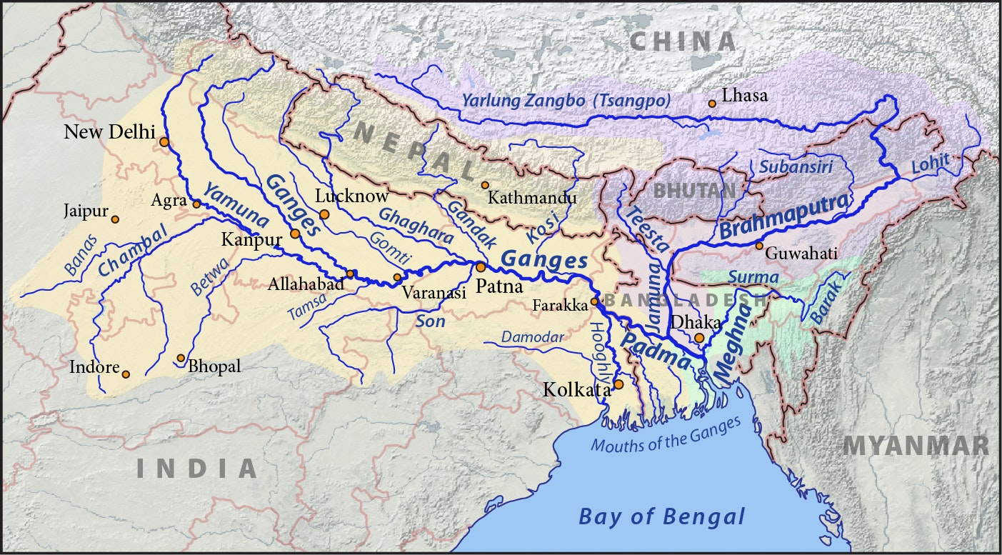 River Map Of China.China And India S Race To Dam The Brahmaputra River Puts The