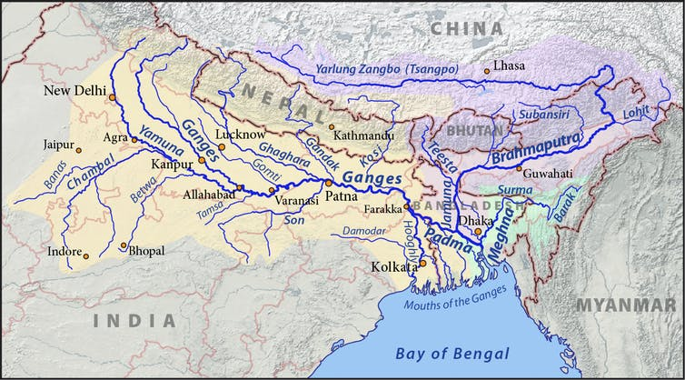 Rivers Map Of China.China And India S Race To Dam The Brahmaputra River Puts The