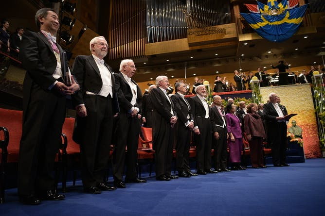 the nobel prizes controversial push for popularity nobel laureates at the 2015 nobel prize ceremony the overwhelming uniformity of nobel laureates has created something of an image problem