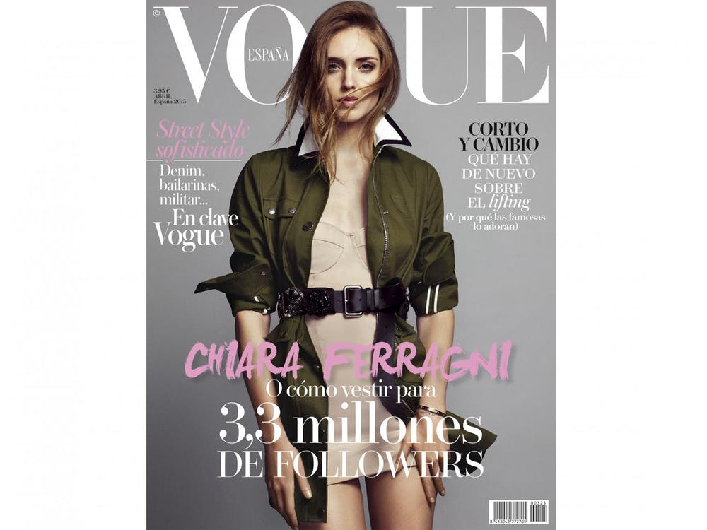 6baafe18af05e Blogger Chiara Ferragni was even featured the cover of Vogue s Spanish  edition. Vogue