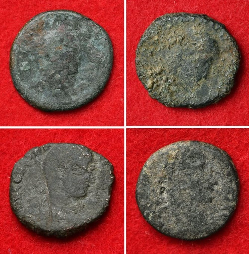 How did 4th-century Roman coins end up in a medieval