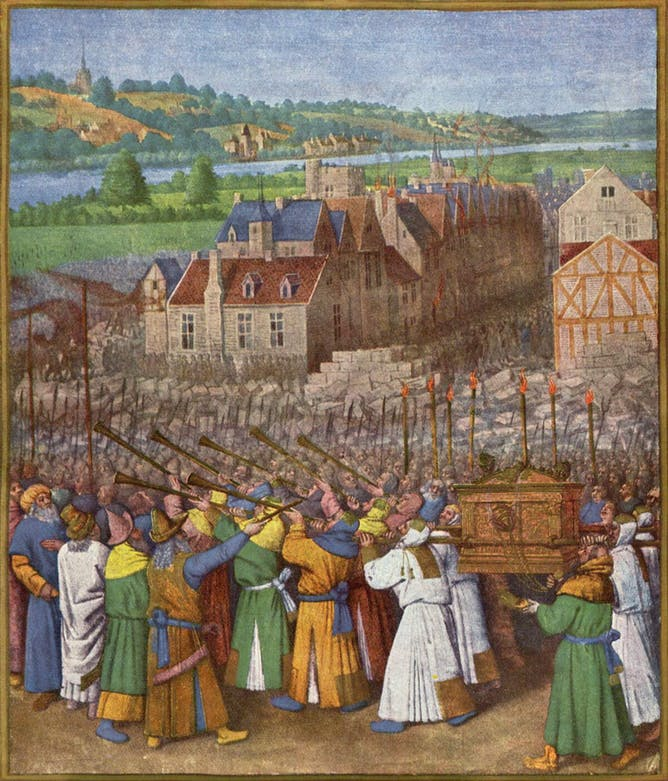 friday essay the sound of fear the conquest of jericho by jean fouquet circa 1415 1420